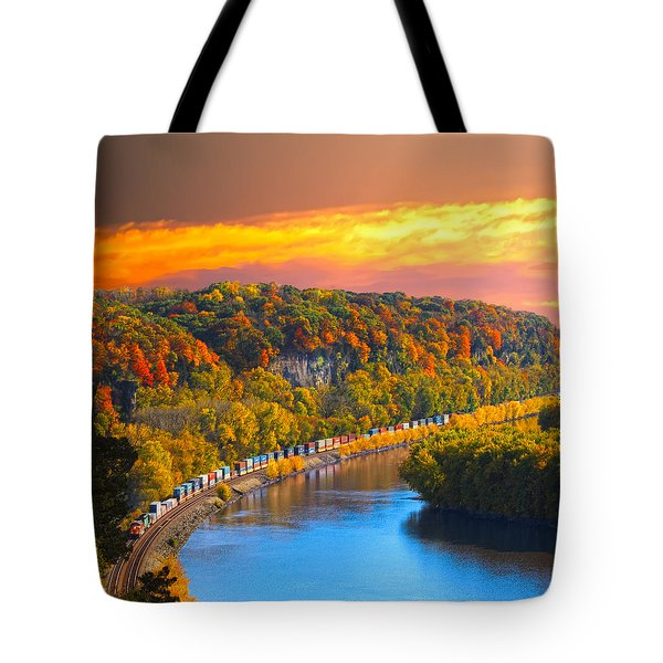 The Hobo Train Up The Mississippi Tote Bag