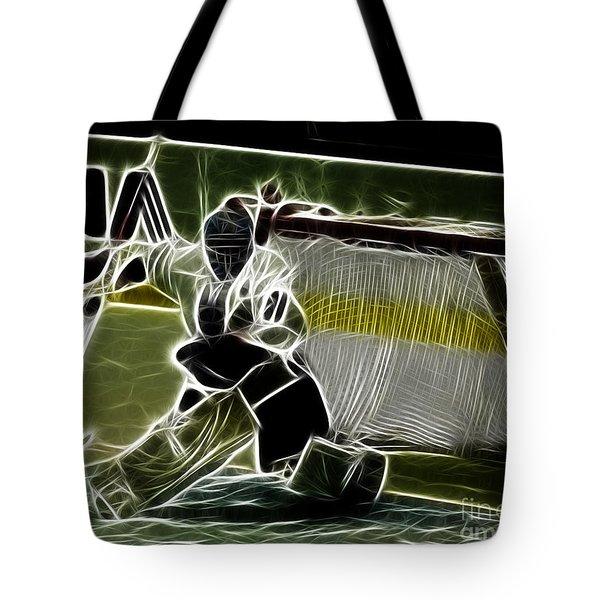 The Hockey Goalie Tote Bag by Bob Christopher