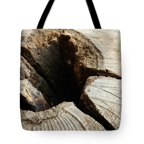 Tote Bag featuring the photograph The Hole by Clare Bevan