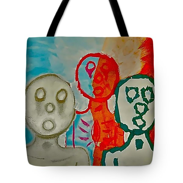 The Hollow Men 88 - Study Of Three Tote Bag