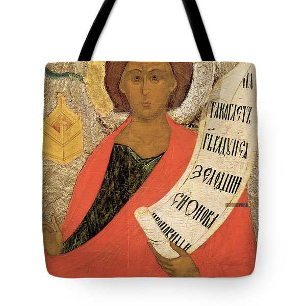 The Holy Prophet Zacharias Tote Bag by Novgorod School