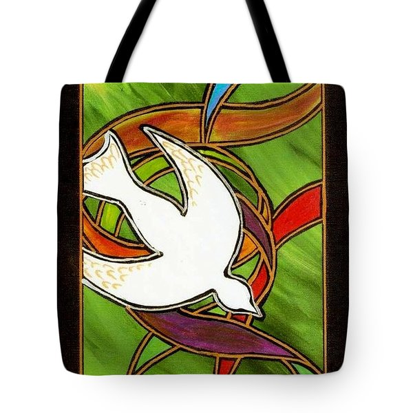 The Holy Spirit Tote Bag by Jim Harris
