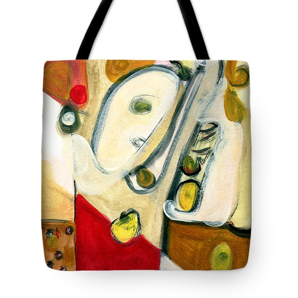 The Horn Player Tote Bag by Stephen Lucas