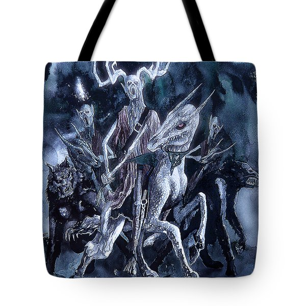 Tote Bag featuring the painting The Horned King 2 by Curtiss Shaffer