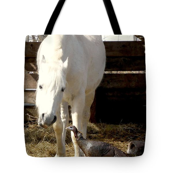 The Horse And The Turkey Tote Bag