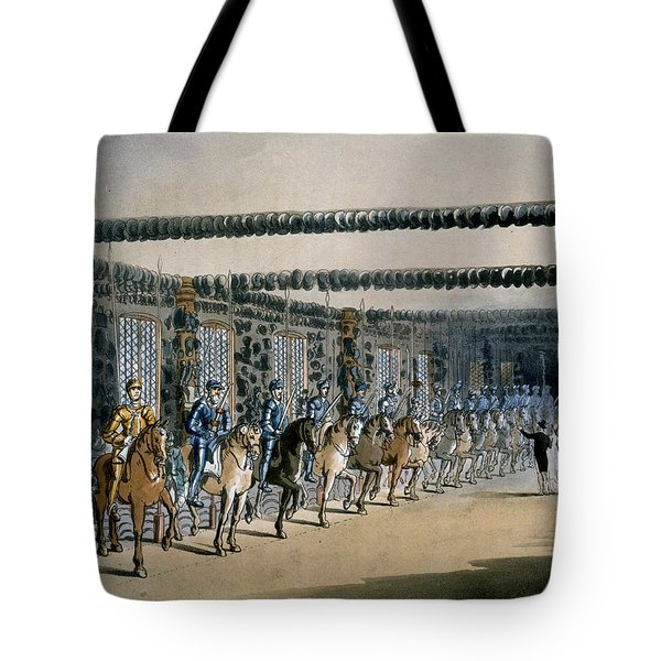 The Horse Armour Tower, Print Made Tote Bag by T. & Pugin, A.C. Rowlandson