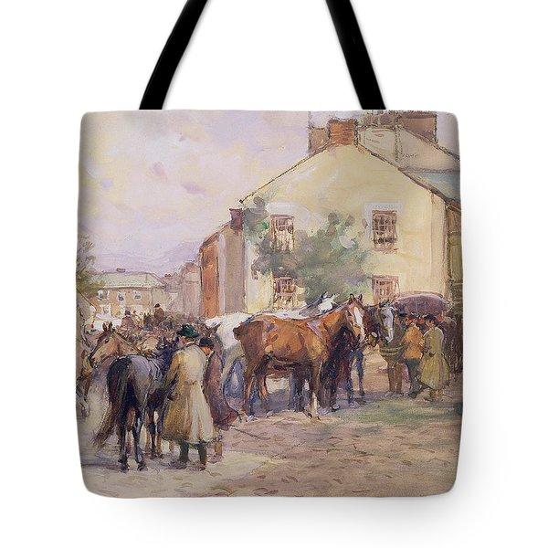 The Horse Fair  Tote Bag by John Atkinson