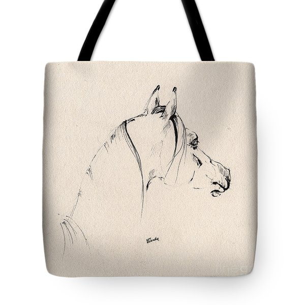 The Horse Sketch Tote Bag by Angel  Tarantella
