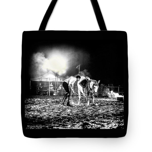 Tote Bag featuring the photograph The Horse That Suffered  by Stwayne Keubrick