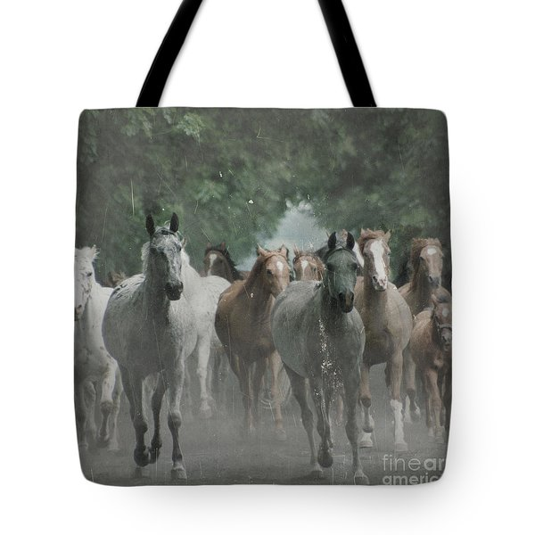 The Horsechestnut Tree Avenue Tote Bag by Angel  Tarantella