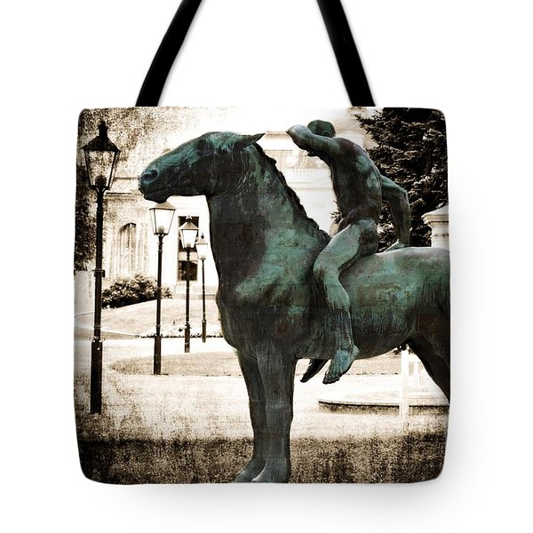 The Horseman Tote Bag by Mary Machare