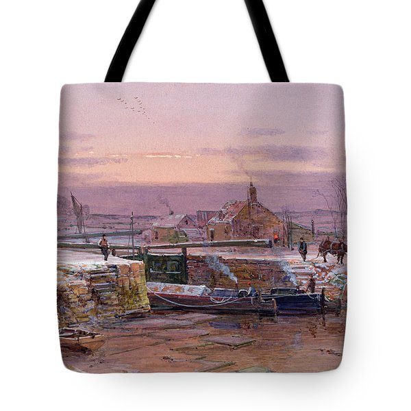 The House By The Canal Tote Bag by Charles Brooke Branwhite