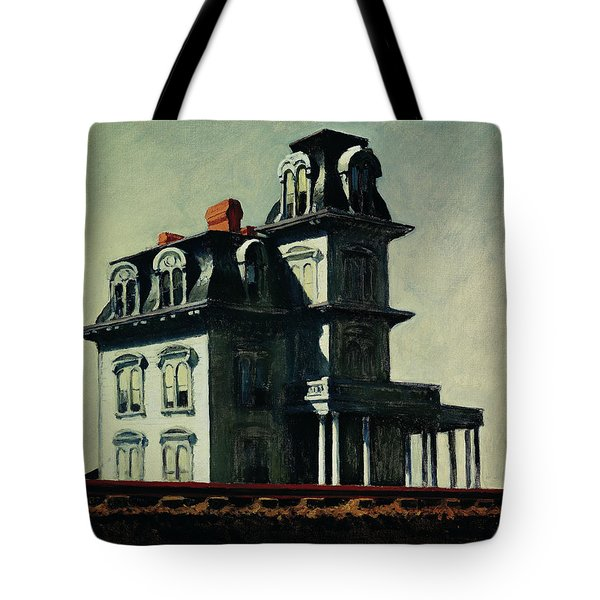 The House By The Railroad Tote Bag by Edward Hopper