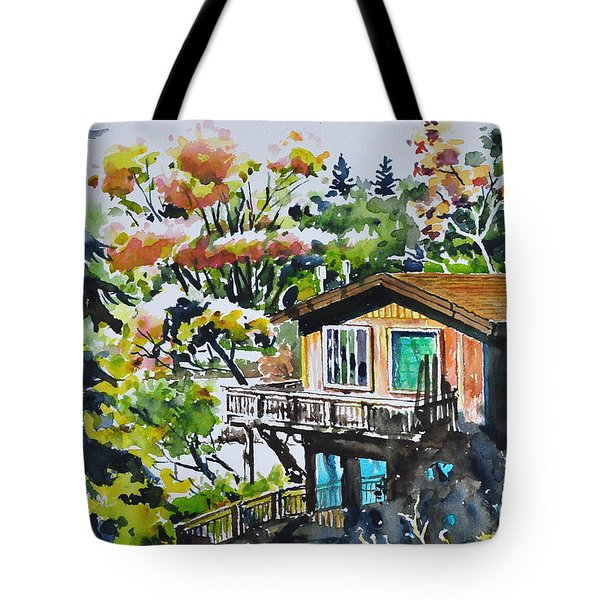 The House Hiding In The Bushes Tote Bag