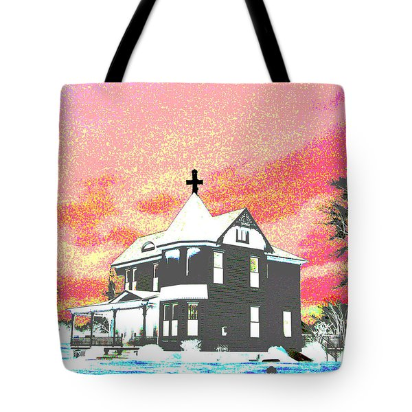 The House Of Haunted Hill Tote Bag by Jimi Bush