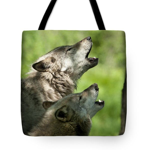 Tote Bag featuring the photograph The Howling by Wolves Only