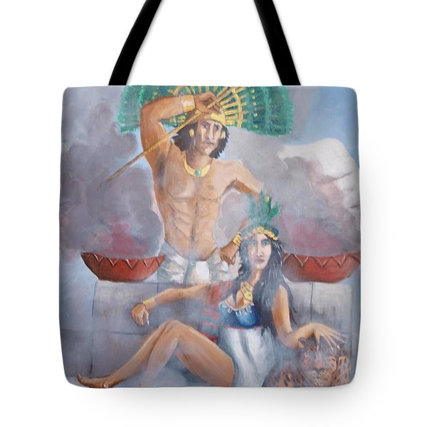 The Huey Tlatoni Or Emperor And Wife Tote Bag