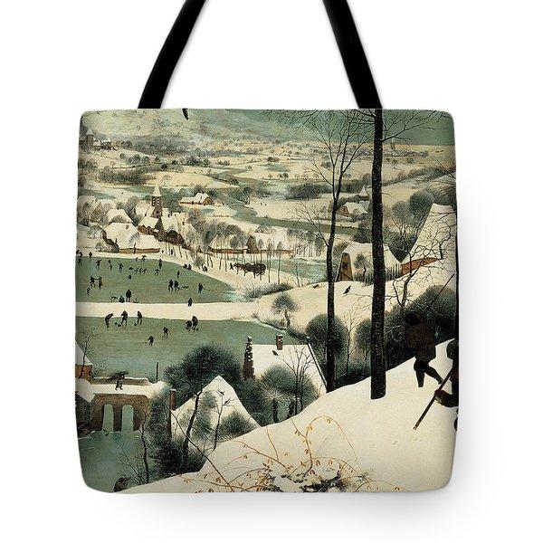 The Hunters In The Snow Tote Bag by Jan the Elder Brueghel