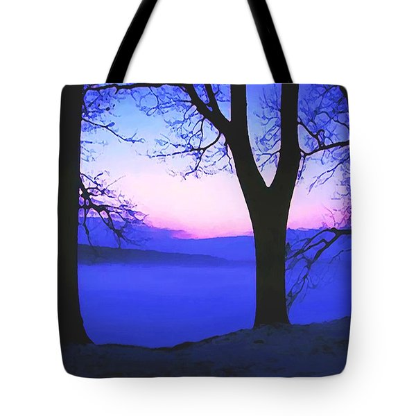Tote Bag featuring the painting The Hush At First Light by Sophia Schmierer