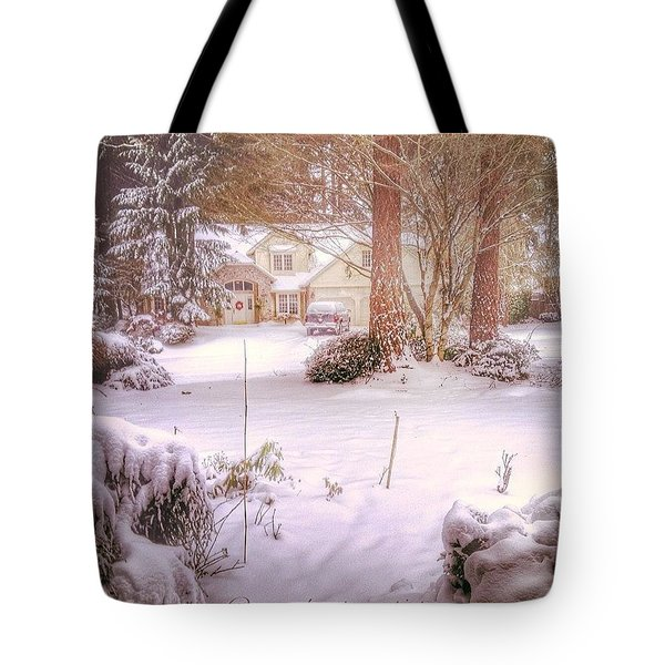 The Hush Of A Winter Morn Tote Bag