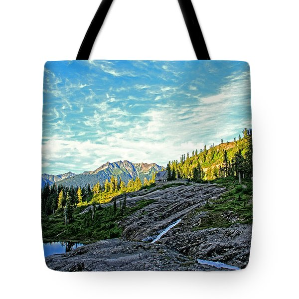 Tote Bag featuring the photograph The Hut. by Eti Reid