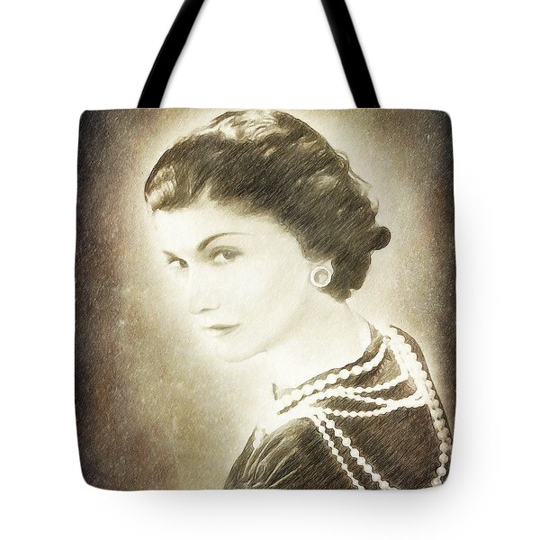 The Icon Of Elegance Tote Bag by Angela A Stanton