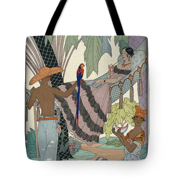 The Idle Beauty Tote Bag by Georges Barbier
