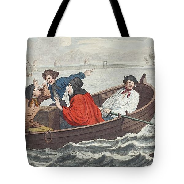 The Idle Prentice Turned Away And Sent Tote Bag by William Hogarth