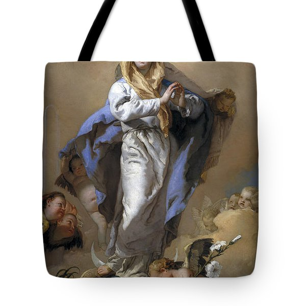 Tote Bag featuring the painting The Immaculate Conception by Giovanni Battista Tiepolo