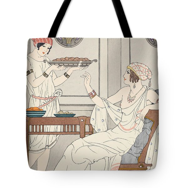The Immoderate Consumption Of Sesame Cakes And Sweets With Honey Tote Bag by Joseph Kuhn-Regnier
