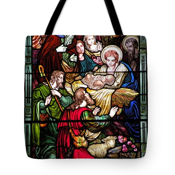 The Incarnation - Madonna And Child Tote Bag by Kim Bemis
