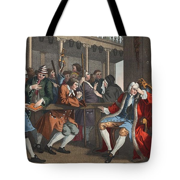 The Industrious Prentice Alderman Tote Bag by William Hogarth