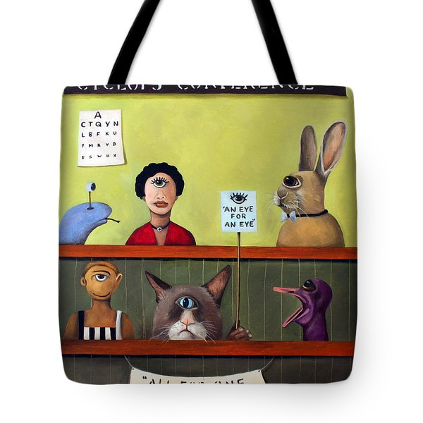 The International Cyclops Conference Tote Bag by Leah Saulnier The Painting Maniac