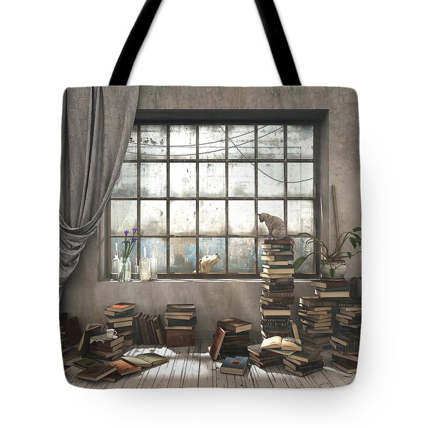 The Introvert Tote Bag by Cynthia Decker