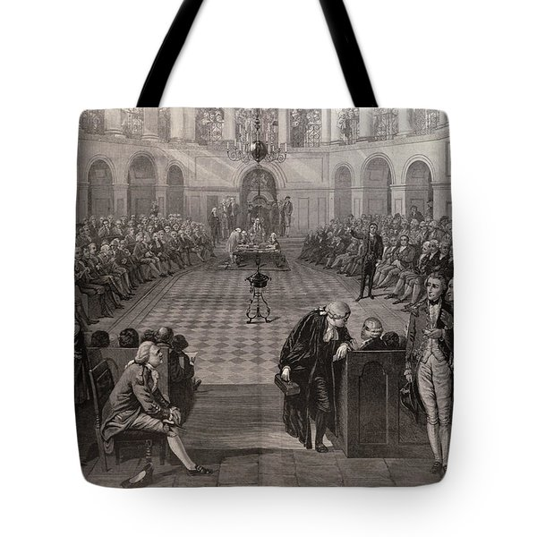 The Irish House Of Commons, Ad 1790, College Green, Dublin, From The Illustrated London News, 4th Tote Bag