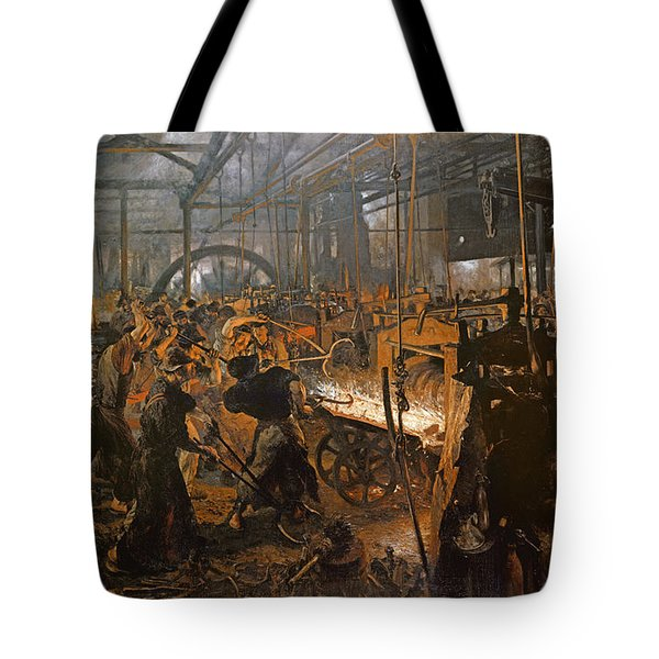The Iron-rolling Mill Oil On Canvas, 1875 Tote Bag