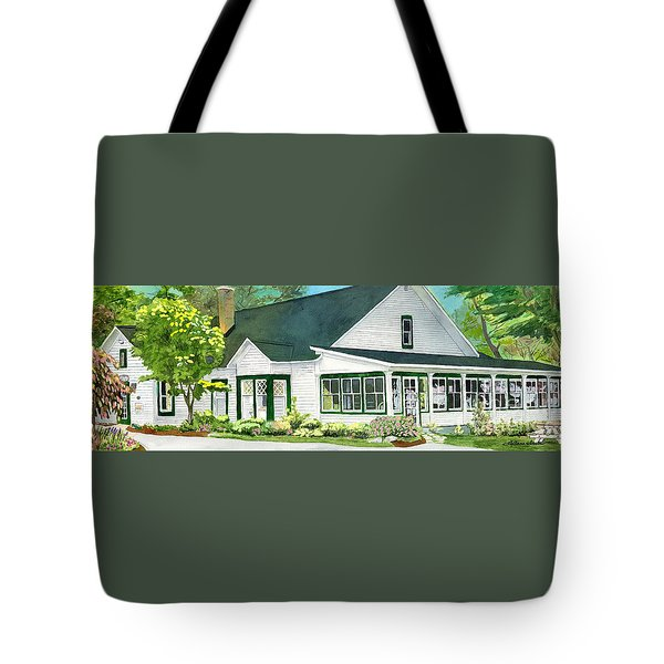 Tote Bag featuring the painting The Island House by LeAnne Sowa