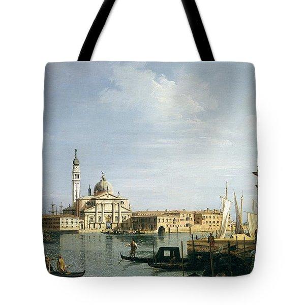 The Island Of San Giorgio Maggiore Tote Bag by Canaletto