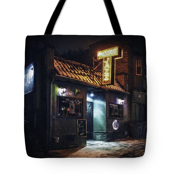 The Jazz Estate Nightclub Tote Bag