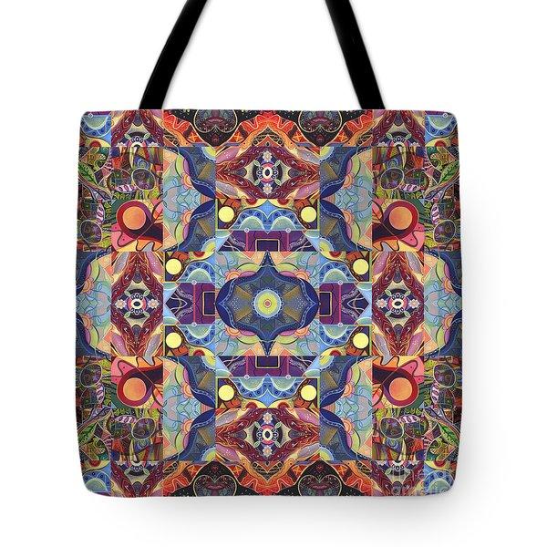 The Joy Of Design Mandala Series Puzzle 1 Arrangement 1 Tote Bag