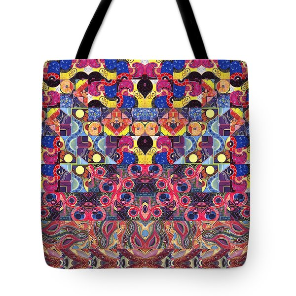 The Joy Of Design Mandala Series Puzzle 3 Arrangement 5 Tote Bag by Helena Tiainen