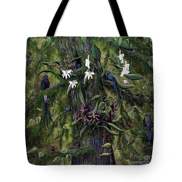 The Jungle Of Guatemala Tote Bag by Jennifer Lake