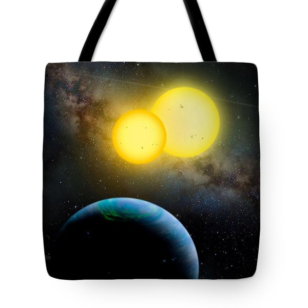 The Kepler 35 System Tote Bag by Movie Poster Prints