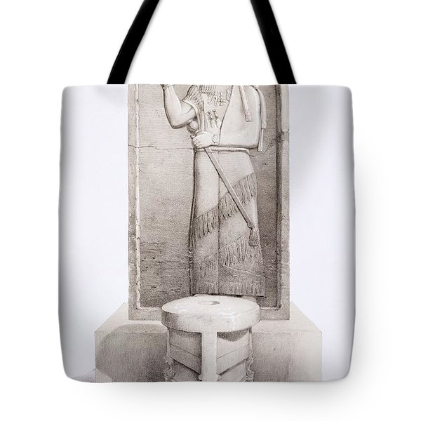 The King And Sacrificial Altar, Nimrud Tote Bag by English School