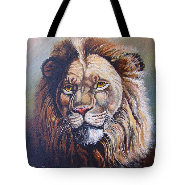 Tote Bag featuring the painting The King by Anthony Mwangi