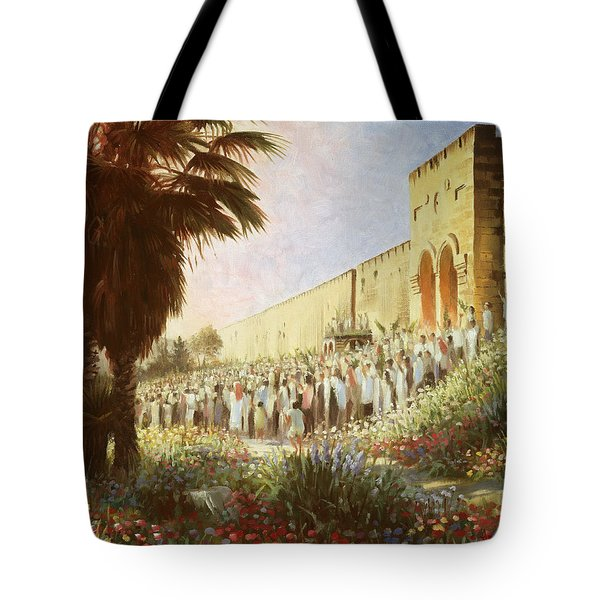 The King Is Coming  Jerusalem Tote Bag