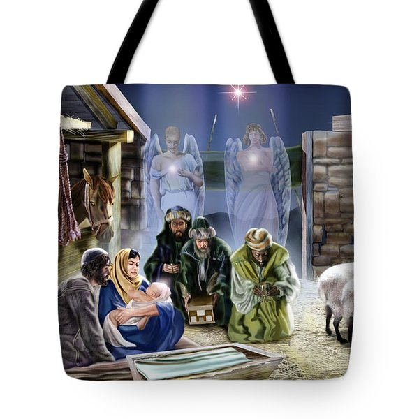 The King Of Kings Is Born Tote Bag by Reggie Duffie