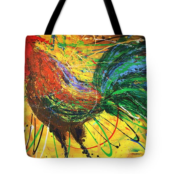 The King Rooster Tote Bag