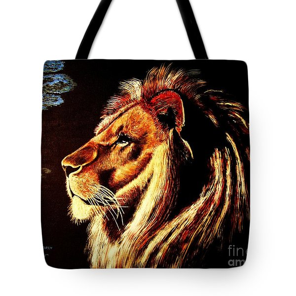 Tote Bag featuring the painting the King by Viktor Lazarev