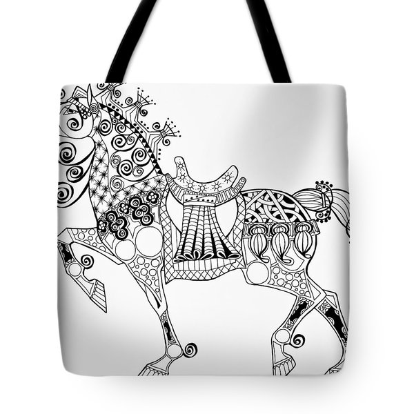 The King's Horse - Zentangle Tote Bag
